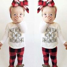 New 0-24M Newborn Baby Girls Toddler Kids T-shirt Tops+Pants Outfit Clothes Suit