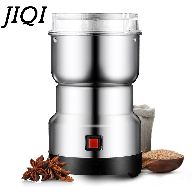 MINI Coffee Bean Grinder Stainless Steel Household Electric Beans Grinding Machine Cafe Crusher Travel Mill Pulverizer EU Plug