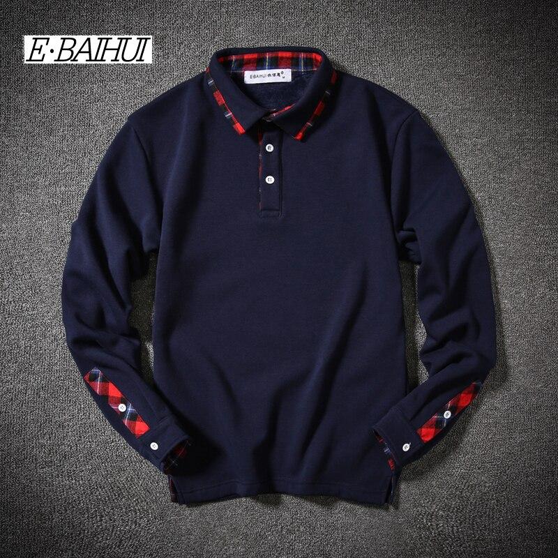 E-BAIHUI 2017 New Fashion Brand Men Clothes Solid Color Long Sleeve Slim Fit T Shirt Men Cotton T-Shirt Casual T Shirts JR005