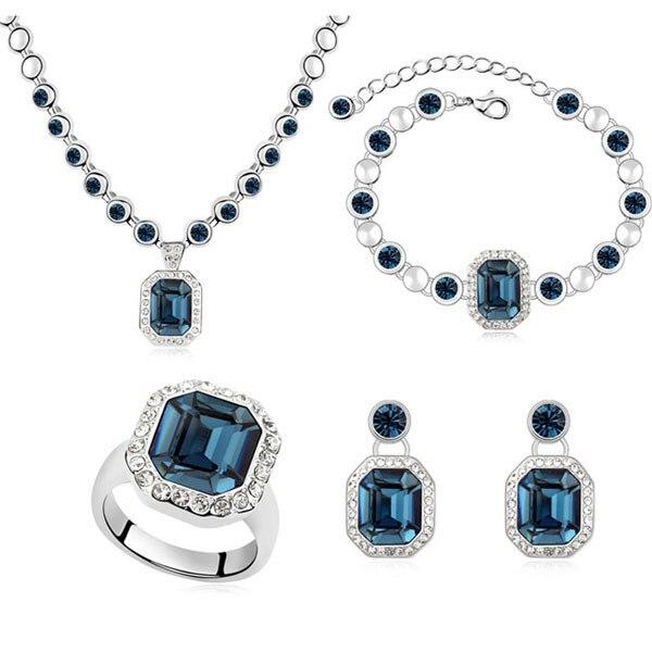 Nouveau ensemble de bijoux africains ensembles de bijoux en or bijoux en cristal pour les femmes ensemble de mariage boucles d'oreilles et collier ensemble