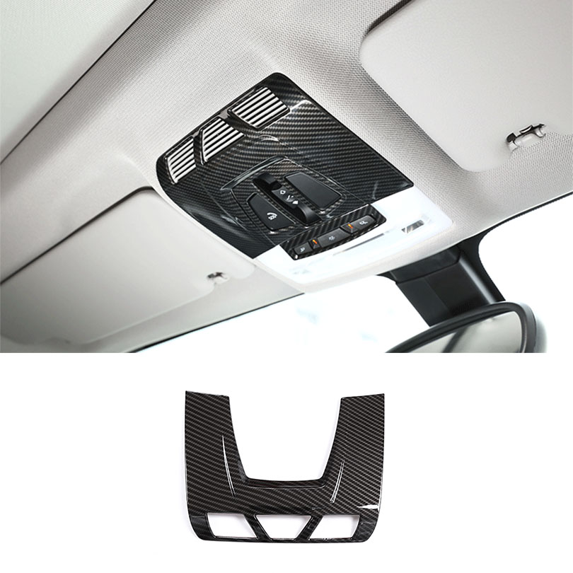 Car Styling ABS Plastic Carbon Fiber Front Reading Lamp