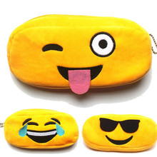 1pcs Emoji Plush Travel Storage Bag Portable Digital USB Gadget Charger Wires Cosmetic Zipper Pouch Case Accessories Supplies(China)