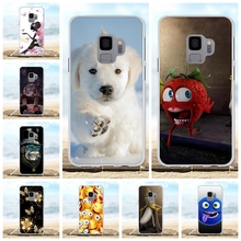 For Samsung Galaxy S9 Cover Soft TPU G960F G960U G960W G9600 Case Dog Patterned Coque Capa
