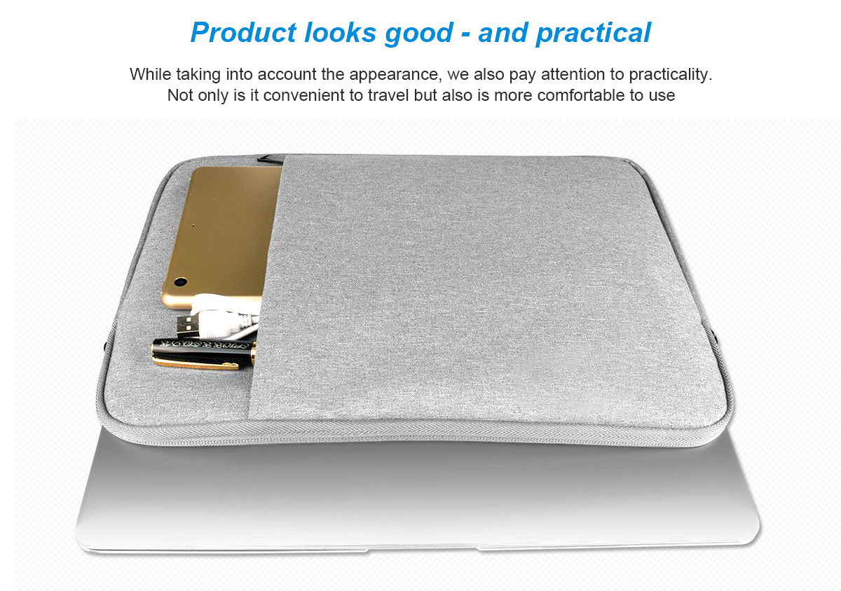 Waterproof Tablet Sleeve Handbag Case For Ipad Pro 12.9 2017 2015 For Apple Macbook Air 13 Pro 13 Case 13Inch