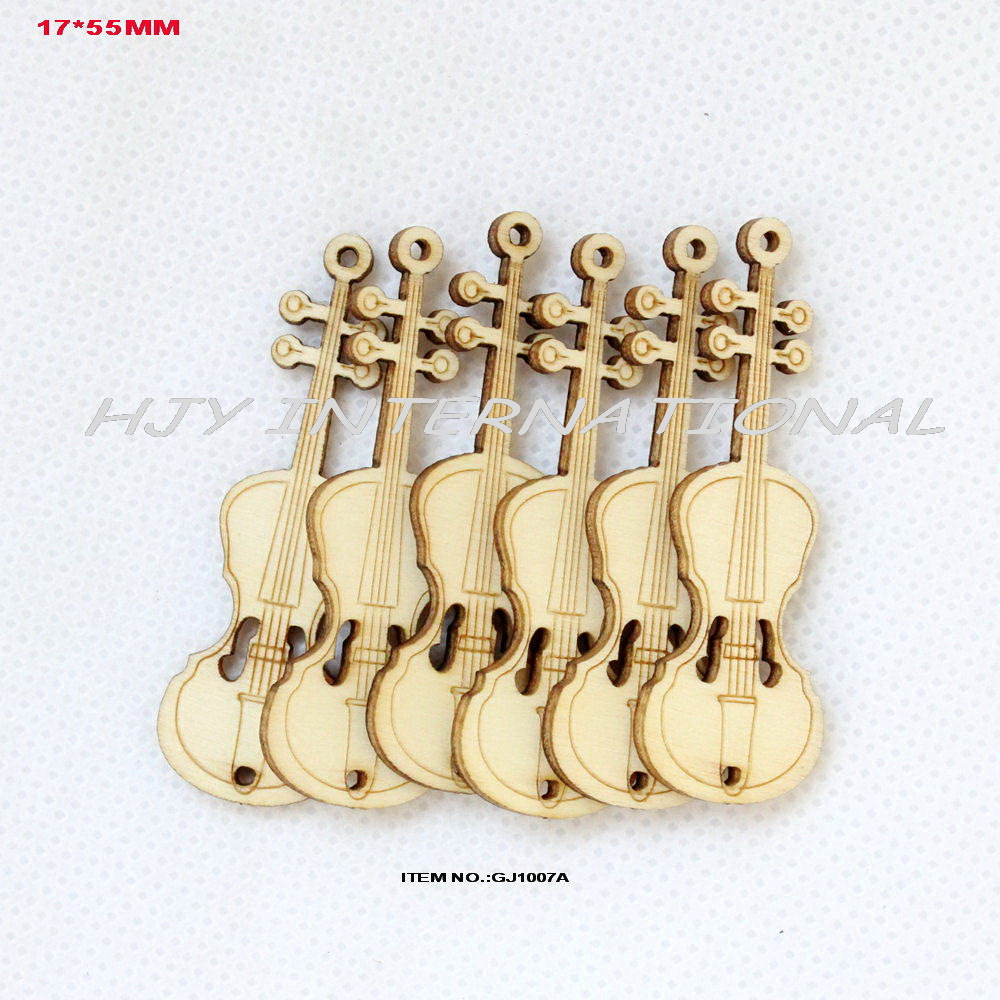 80pcs lot 17mm x55 mm unfinished natural wooden violin for Bulk buy craft supplies