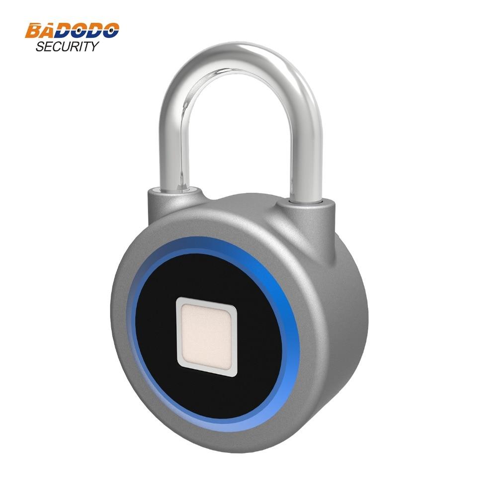 Image 3 - Waterproof Keyless portable Bluetooth smart Fingerprint Lock padlock Anti Theft iOS Android APP control door cabinet padlock-in Electric Lock from Security & Protection