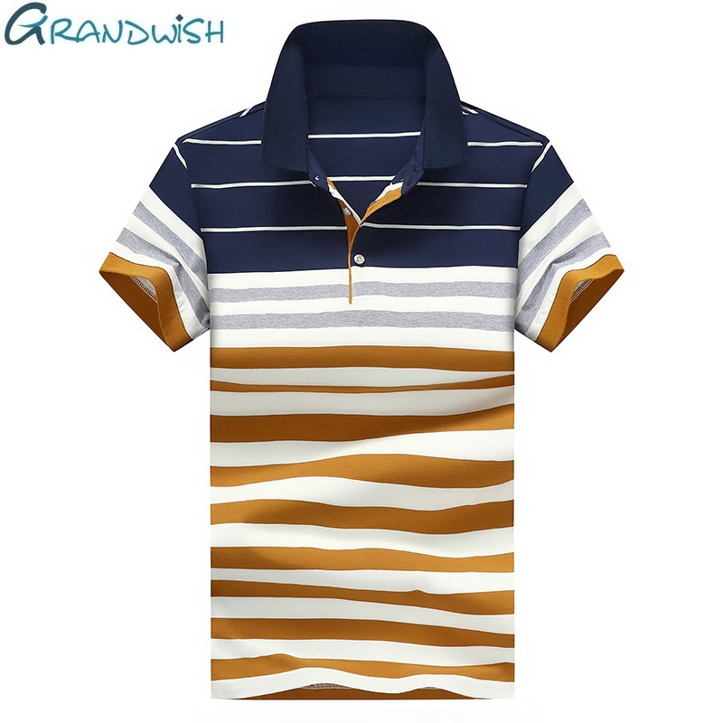 Striped Men's   Polo   Casual Cotton Breathable Short Sleeve Men   Polos   Shirt Summer Shirts Clothes for Man 4XL Fit Clothing,ZA206