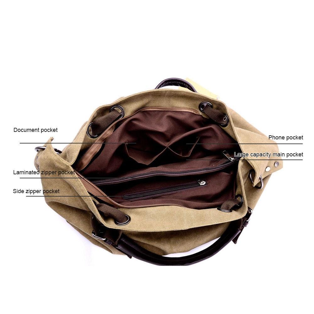 Canvas Handbag Casual Large Capacity Hobos Bag Female Totes Bolsas Trapeze Ruched Solid Shoulder Bag