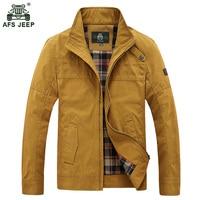 2018 AFS JEEP Male Jacket Men Flight Jackets Coat windbreaker jacket Fashion Turn-down Collar Casual Autumn Trench Coats 136wy