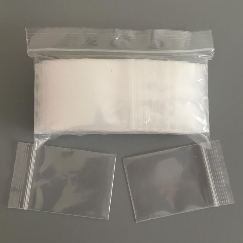 Packaging and Shipping,100PCS//SET Durable Use Transparent Jewelry Ziplock Zip Zipped Lock Reclosable Plastic Poly Clear Bags Storage Bag