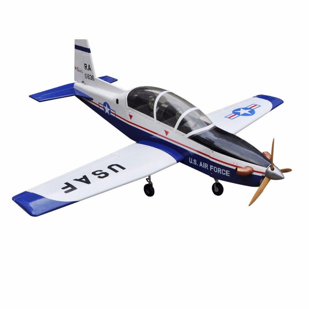 Sport Scale Plane T-6A Texan II RC Airplane Gas 8 CH 30cc 78.7 US Stock sport scale plane t 6a texan ii rc airplane gas 8 ch 30cc 78 7 balsa wood model