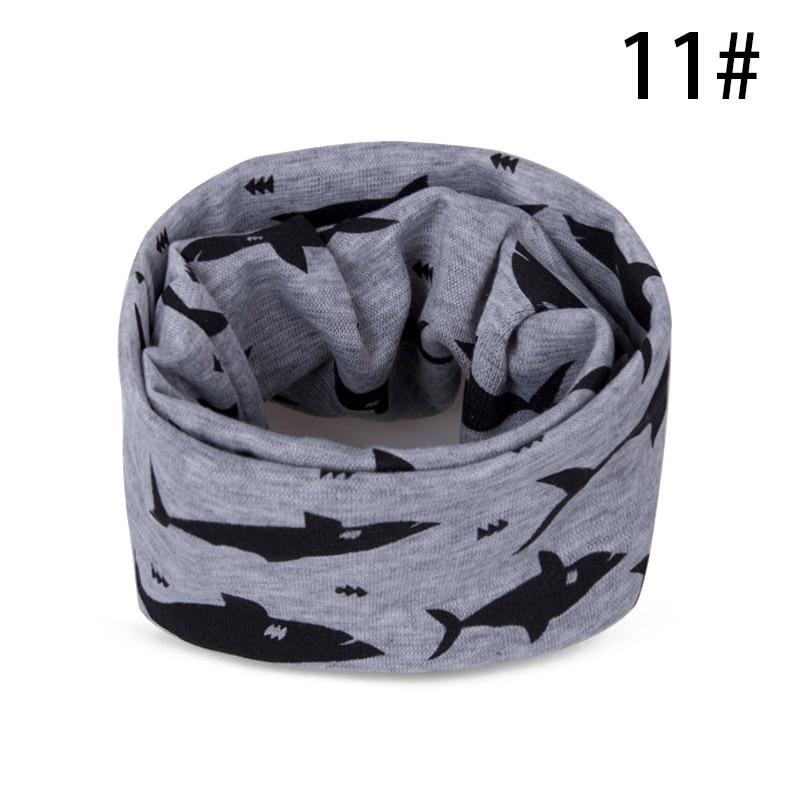 Модный шарф на Шею Зимние теплые Детские шарф из хлопка для обувь девочек мальчиков толстые теплые кольца шарфы женщин дети комфорт Унис - Цвет: K