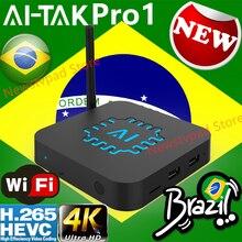 ai tak tv box ai tak pro1 BTV B9 HTV BOX 5 Portuguese Brazilian internet TV Internet Streaming box Live HD Filmes On Demand TV