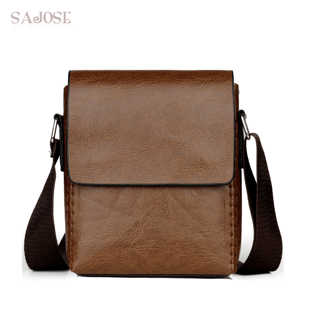 f854a8a971 Men PU Leather Shoulder Bag Crossbody Bag Casual Vintage High Quality  Messenger Bags Business Men s Small