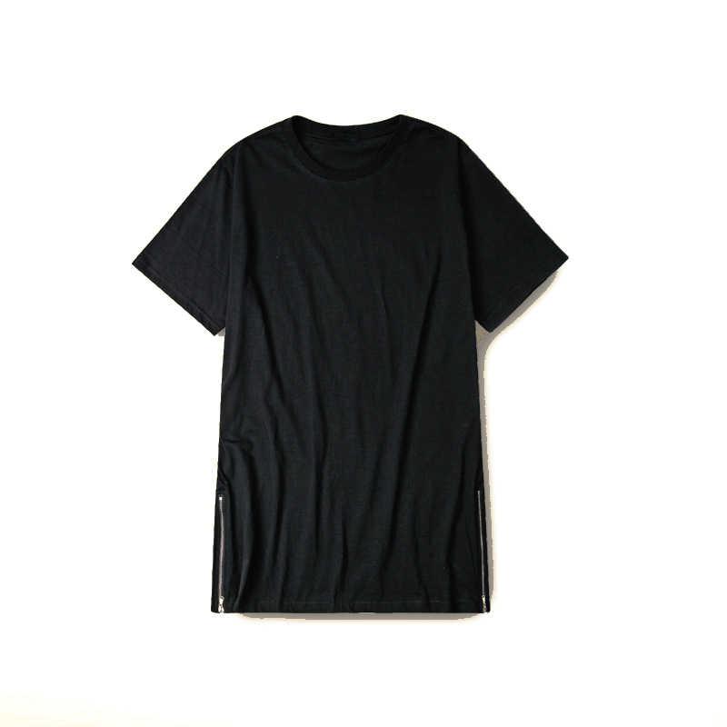 1184faedd ... MRMT 2017 long t shirt Men Hip Hop Black t-shirt Longline Extra Long tee  ...