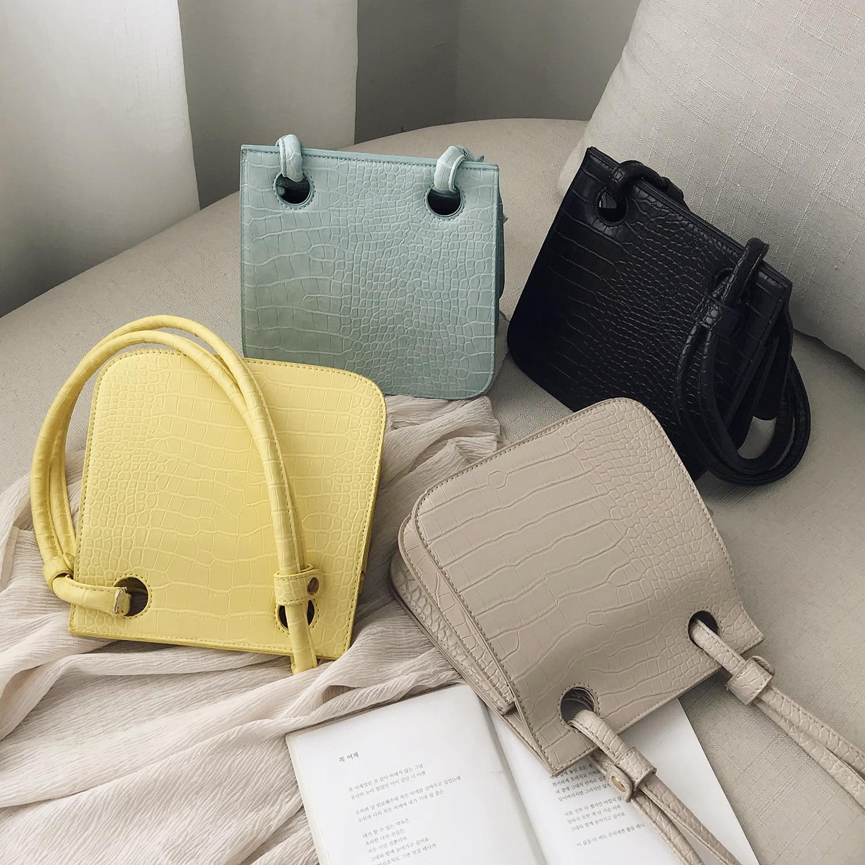 Image 5 - Crocodile Pattern Crossbody Bags For Women 2019 New Fashion Shoulder Messenger Bag Ladies Solid Color Handbag Travel Hand Bag-in Shoulder Bags from Luggage & Bags