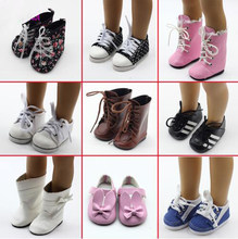1pair dolls shoes For 18inch girl Dolls shoes, sandals, Boots high heels 43cm baby doll children Christmas gift toys(China)
