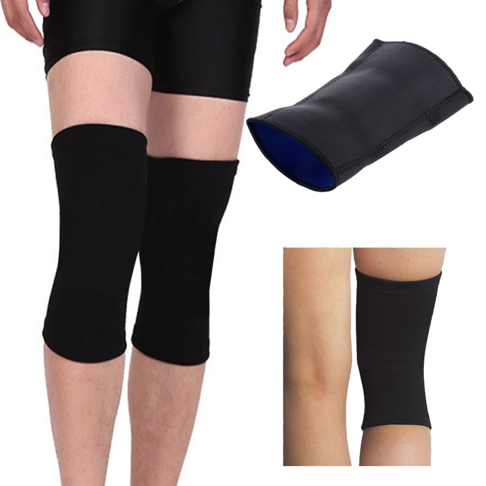 Black Sports Leg Knee Protector Patella Support Brace Wrap Pad Sleeve Elastic NEW SALE Care Tool Drop Ship