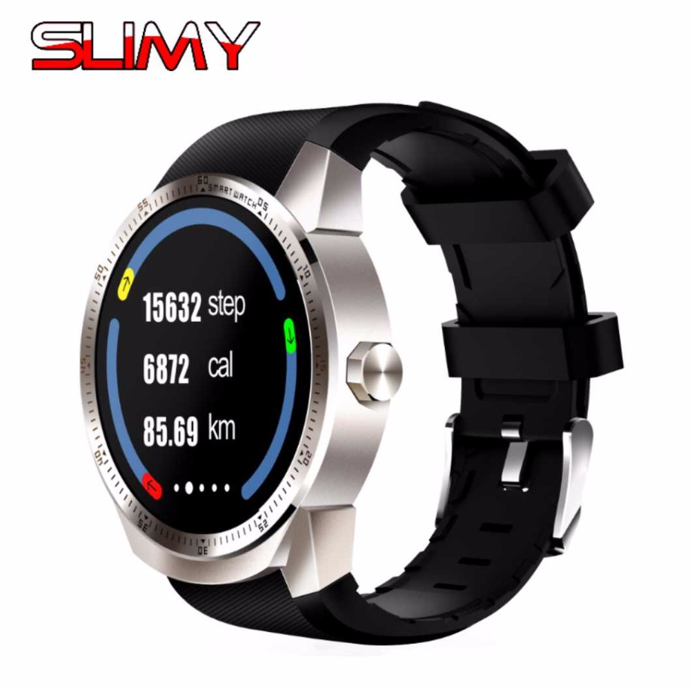 Slimy K98H 3G Wifi Smart Watch Android 4.4 51MB/4G Wrist Phone GPS SIM Card Heart Rate Monitor Smartwatch with IP54 Waterproof crcular shape no 1 d5 android 4 4 bluetooth gps smart watch with heart rate monitor google play gps 4g rom 512m ram smartwatch