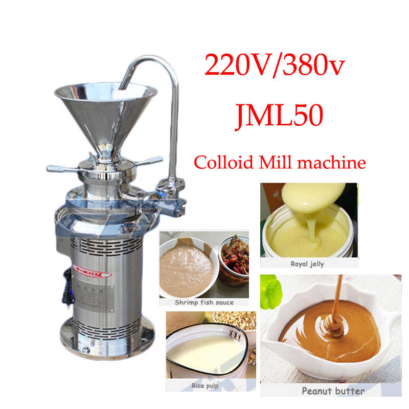 JML50 Coating Grinding Machine vertical colloid mill Sesame soybean Colloid Mill machine Peanut Butter grinding machine 1pc