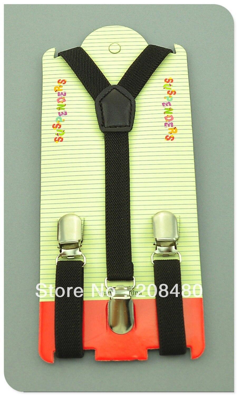 Free Shipping-1.5x65cm Brown Kids Suspenders Children/Boys/Girls Suspender Elastic Braces Slim Suspenders-Wholesale&Retail