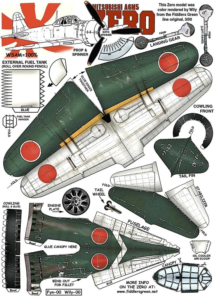 Map of Zero Modle Mitsubishi AgmsFighter Classic Vintage ...