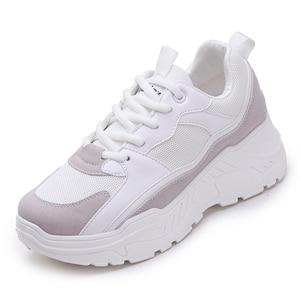 النساء أحذية 2019 جديد مكتنزة رياضية للنساء تفلكن أحذية عارضة الأزياء أبي الأحذية منصة رياضة سلة فام Krasovki