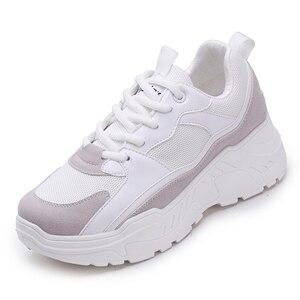 Image 2 - 女性の靴 2019 新チャンキースニーカー女性のための加硫靴カジュアルファッションお父さんの靴プラットフォームスニーカーバスケットファム Krasovki