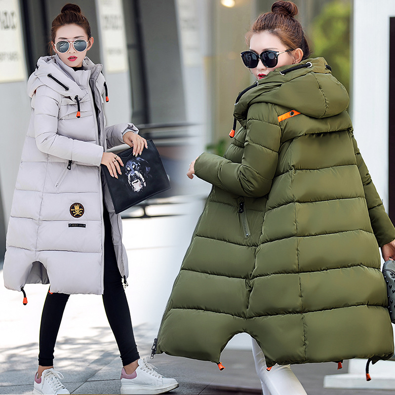 Thick Warm Maternity Coat Women Winter Down Jacket Warm X-Long Coats Girls Ladies White Duck Down Goose Down Parka Big Hooded