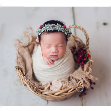 Baby Photography Accessories Hand-Woven Willow Basket Newborn Props Boy Auxiliary Container Bebe Photographie Shooting Platform
