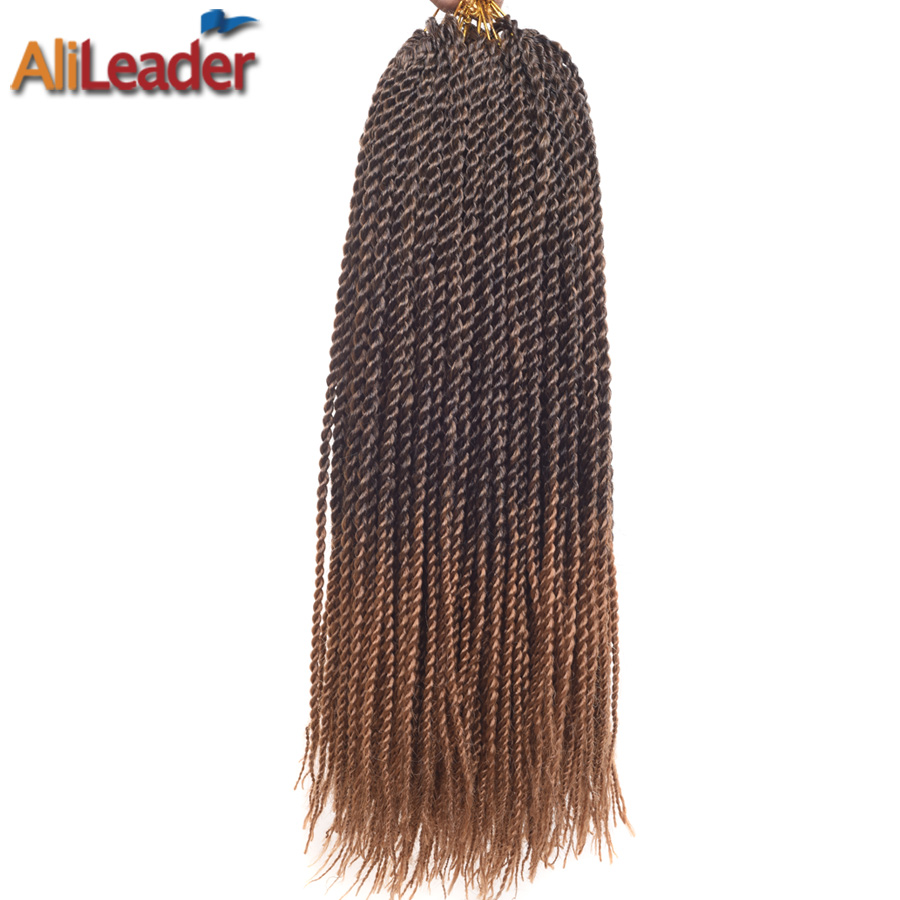 AliLeader Honey Blonde Kanekalon Braiding Hair Ombre Braid Extensions 18 Inch 30 Roots/Pack Crochet Braids Synthetic Hair Weave