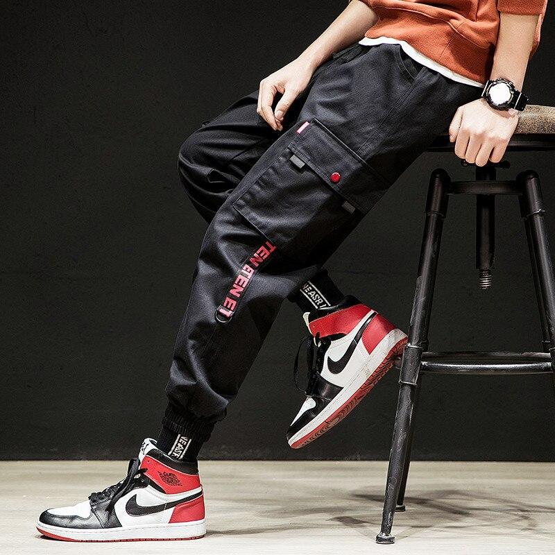 El Barco 2019 Cotton Casual Men Pencil Pants Black Grey Hip Hop Cargo Pants High Quality Khaki Long Streetwear Trousers Joggers To Win Warm Praise From Customers