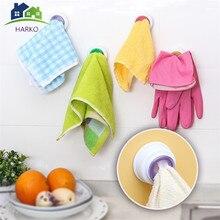 1 шт. удобные кухонные крючки для хранения, вешалка для одежды, вешалка для полотенец, держатель для полотенец на присоске, инструмент для ванной комнаты, случайный цвет
