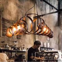 Американский кантри Ретро Лофт Стиль промышленный подвесной светильник приспособление 2 огни столовая Винтаж висит лампе свет Lamparas