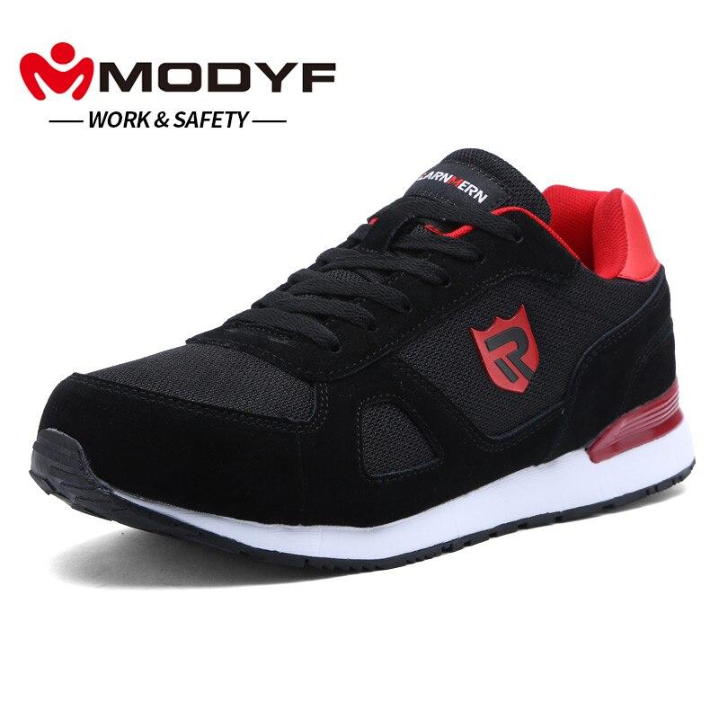 MODYF для мужчин's защитная обувь работы сталь носком шапки сапоги и ботинки для девочек повседневное кроссовки для скейтборда ботильоны защи...