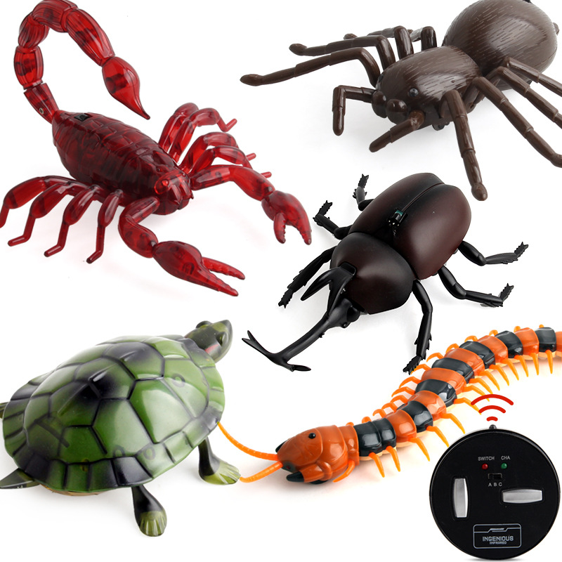 New Robotic Insect Prank Toys Trick Electronic Pet RC Simulation Scorpion Beetle Remote Control Smart Animal Model Children Gift