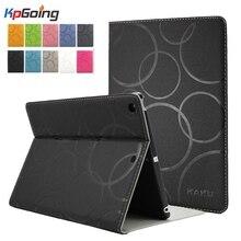 Color sólido plegable de la pu de cuero flip case para xiaomi pad 2 case folio del soporte ebook tablet case para xiaomi mi pad 2 fundas