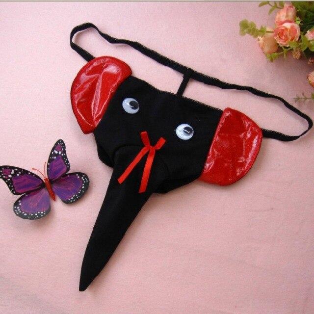 Sex Products Vibrating Panties Fun Temperament And Interest Elephant  Cartoon T-shaped Pants Sexy Men
