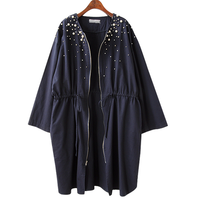 Women's Windbreaker 2019 New Large Size Long Trench Female Coat Spring Casual Loose Cardigan Women Outerwear Coat Plus Size 4XL