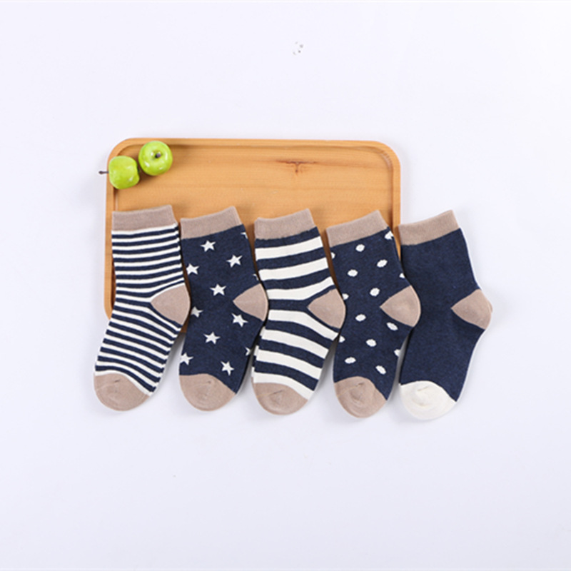 ChanJoyCC 5 Pair lot font b Baby b font Socks Neonatal Spring and Autumn Mesh Cotton