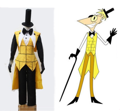 e830a5c768230 Cosplaydiy Gravity Falls Bill Cipher Cosplay Costume Mystery Attack Outfit  Halloween Costumes With Black Hat for men Custom Made