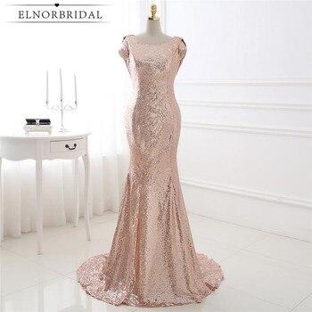 Gold Sequins Bridesmaid Dresses Mermaid 2020 Open Back Robe Demoiselle D'honneur Cap Sleeve Maid Of Honor Dress
