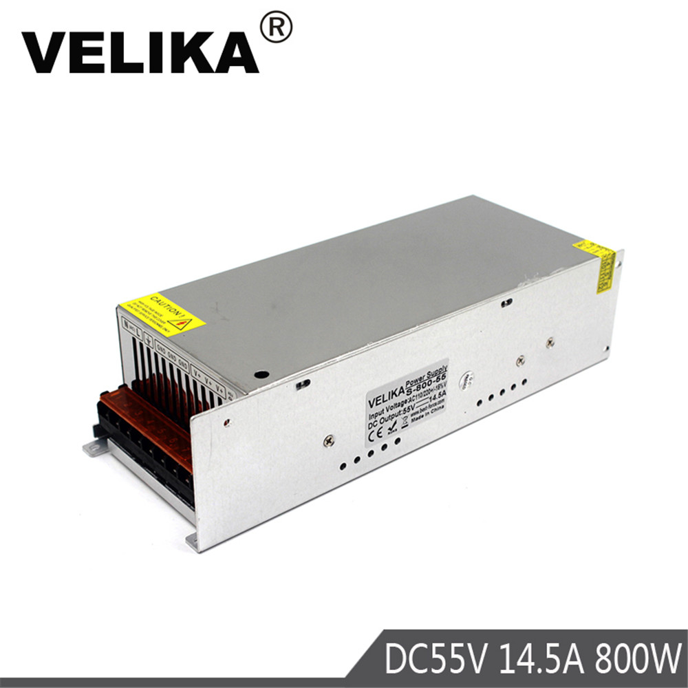 Single Output 800W 55V 14 5A Switching power supply AC to DC55V SMPS for LED Industrial
