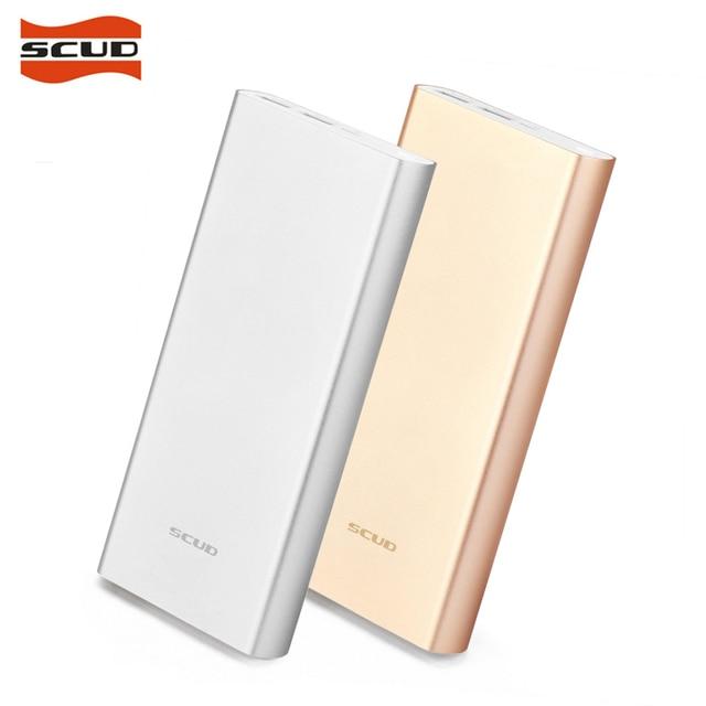 Scud полимер power bank мини тонкий 20000 мАч внешний портативный аккумулятор мобильное зарядное устройство dual usb powerbank 20000 мАч