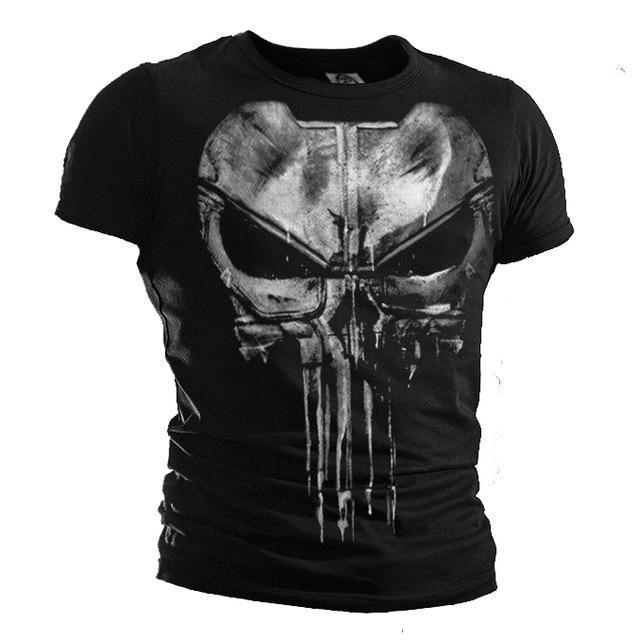New the punisher camiseta Daredevil punisher algodón Casual camisetas de  manga corta para hombres 5bde80a49b8