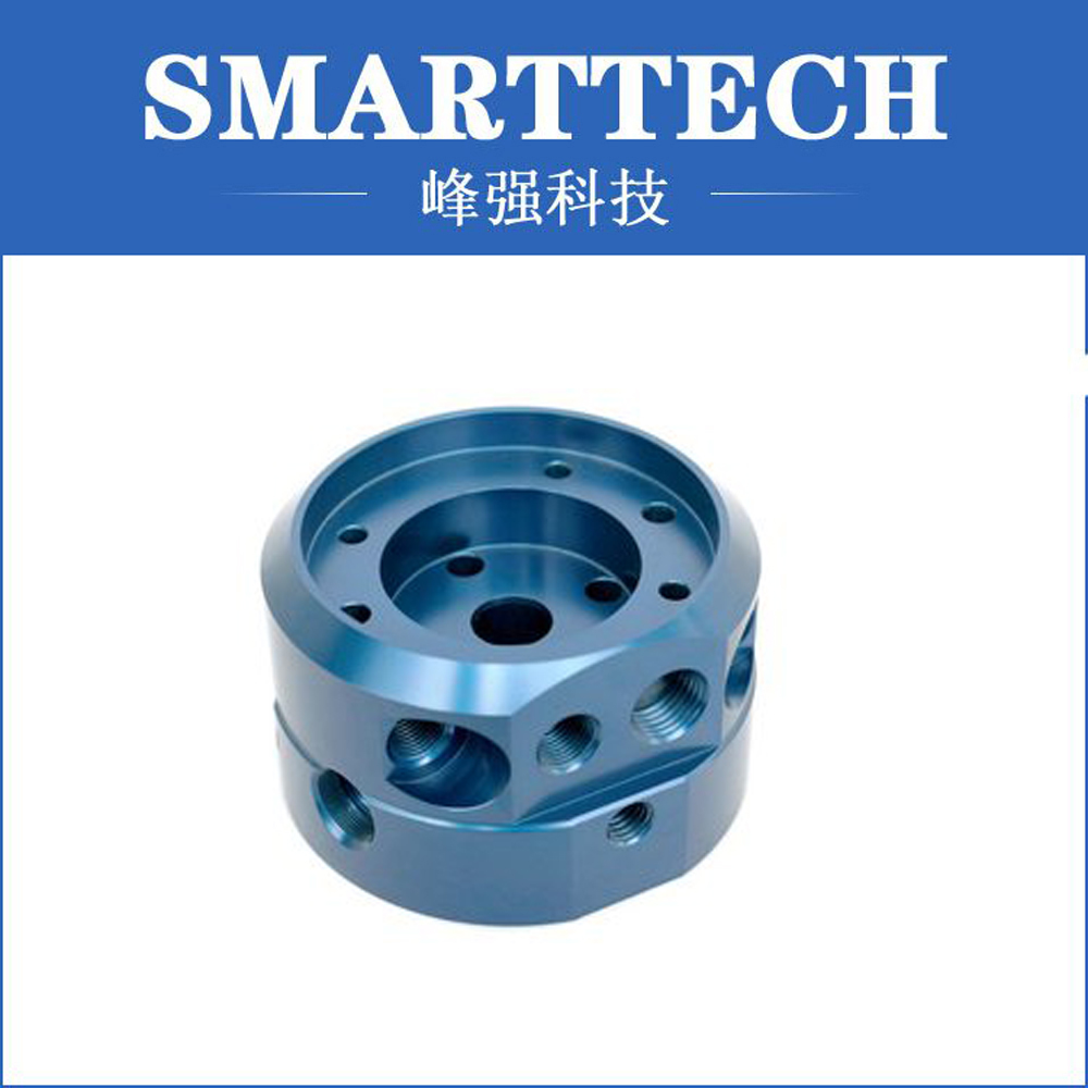 customized metal part with anodizing