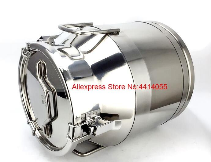 304 baril de vin scellé en acier inoxydable huile tambour/réservoir de stockage d'huile/acier inoxydable scellé grain soupe baril/stockage riz bar - 2