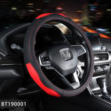 Sport Leather Car Steering Wheel Covers Case Auto Interior Accessories For Funda Volante Ford Mondeo Mk4 Ford Focus 2 prius 30