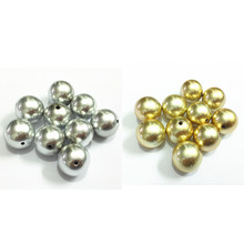 Wholesale ! 12mm 550pcs/bag ,20mm-100pcs/bag acrylic alluvial gold/silver effect beads(China)