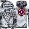 USA SIZE Captain America Winter Fleece Coat Print Hoodies Thicken Sweatershirts Unisex